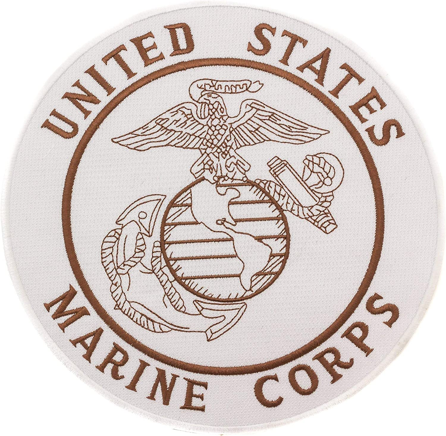 US MARINE CORPS Round Iron Sew on Center Patch for Biker Vest Jacket