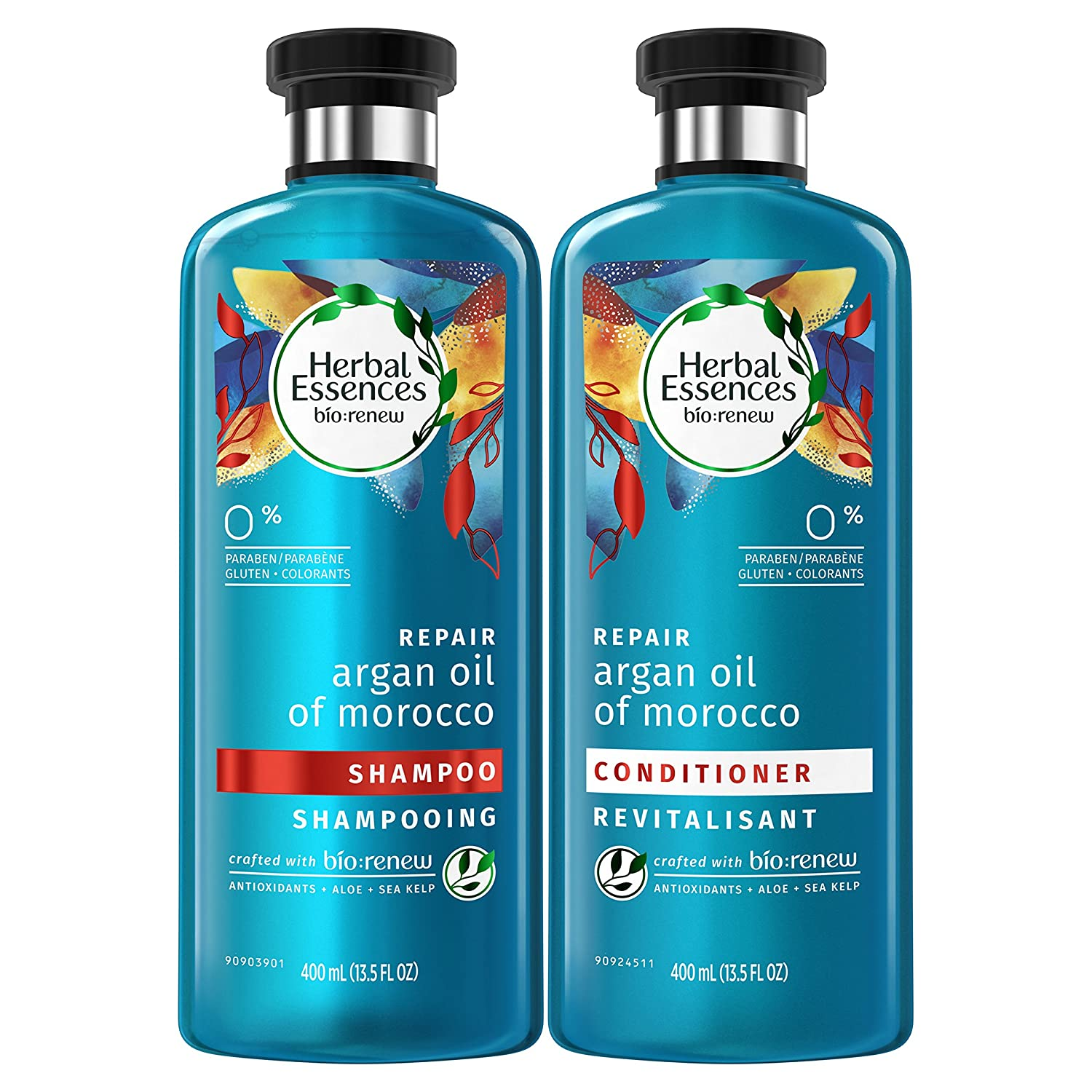 Herbal Essences Argan Oil Of Morocco Shampoo And Conditioner For Color Treated Hair, Paraben Free, Bio Renew, Bundle Pack, 13.5 Fl Oz by Herbal Essences