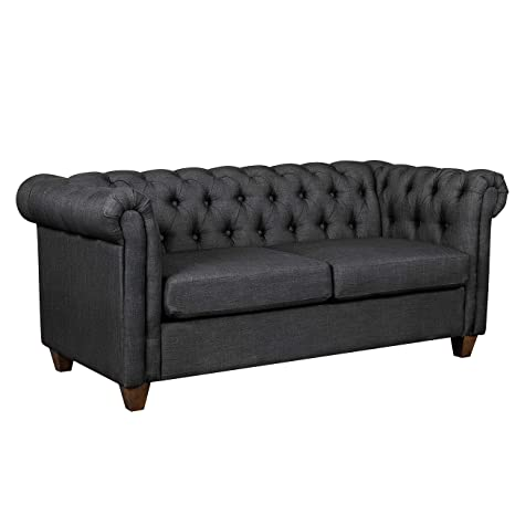Amazon.com: Ravenna Home Classic Chesterfield Tufted Couch ...