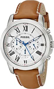Fossil Grant Watch for Men - Analog Leather Band - FS5060