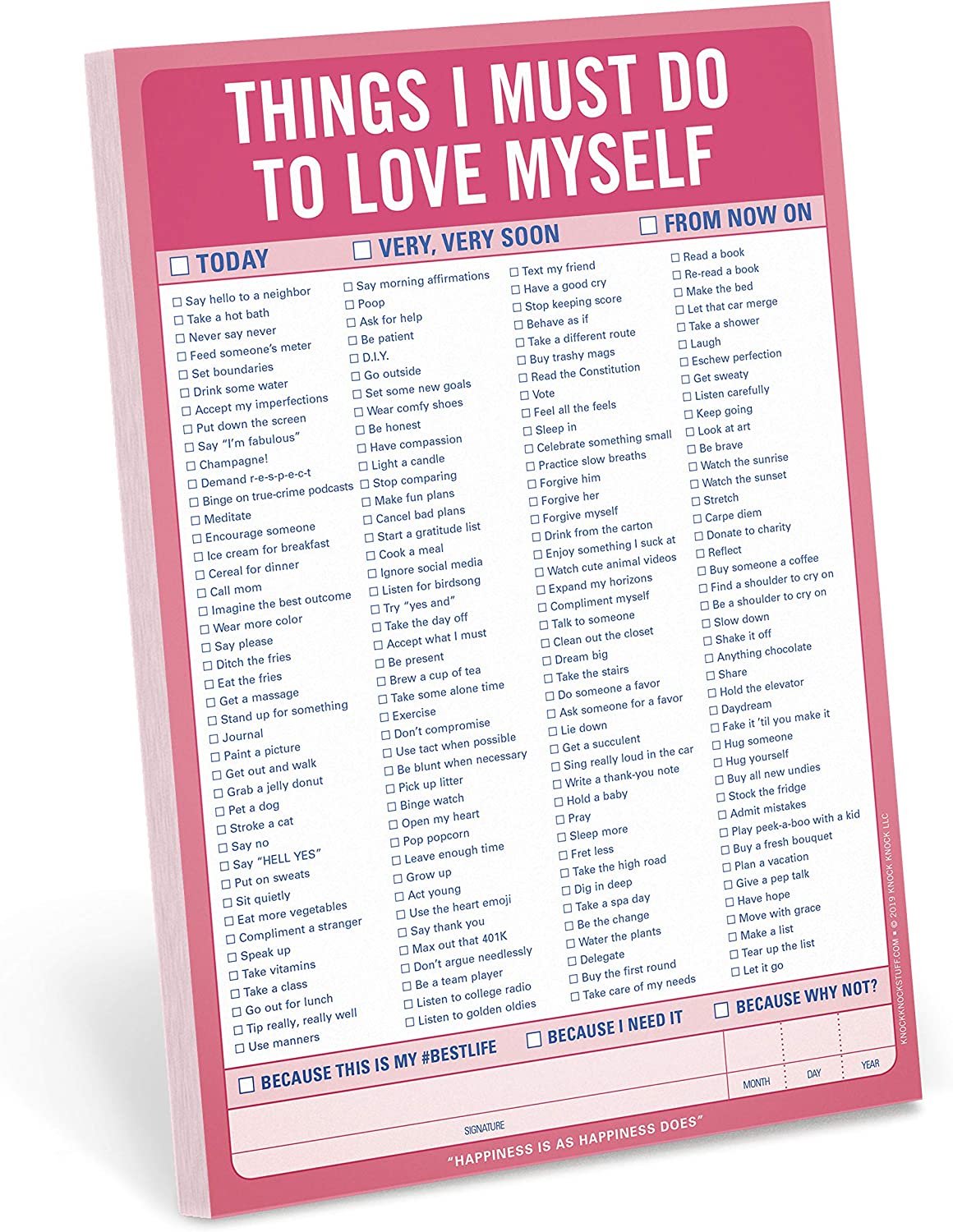 Knock Knock Things I Must Do To Love Myself Pad Amazon Ca Office Products