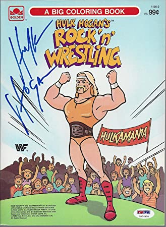 1985 Hulk Hogan\'s Rock \'n\' Wrestling Coloring Book Signed Rare ...