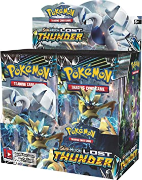Pokémon POK81455 TCG: Sun & Moon 8 Lost Thunder Booster Box ...