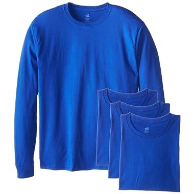 Hanes Men's Long-Sleeve ComfortSoft T-Shirt (Pack of 4)