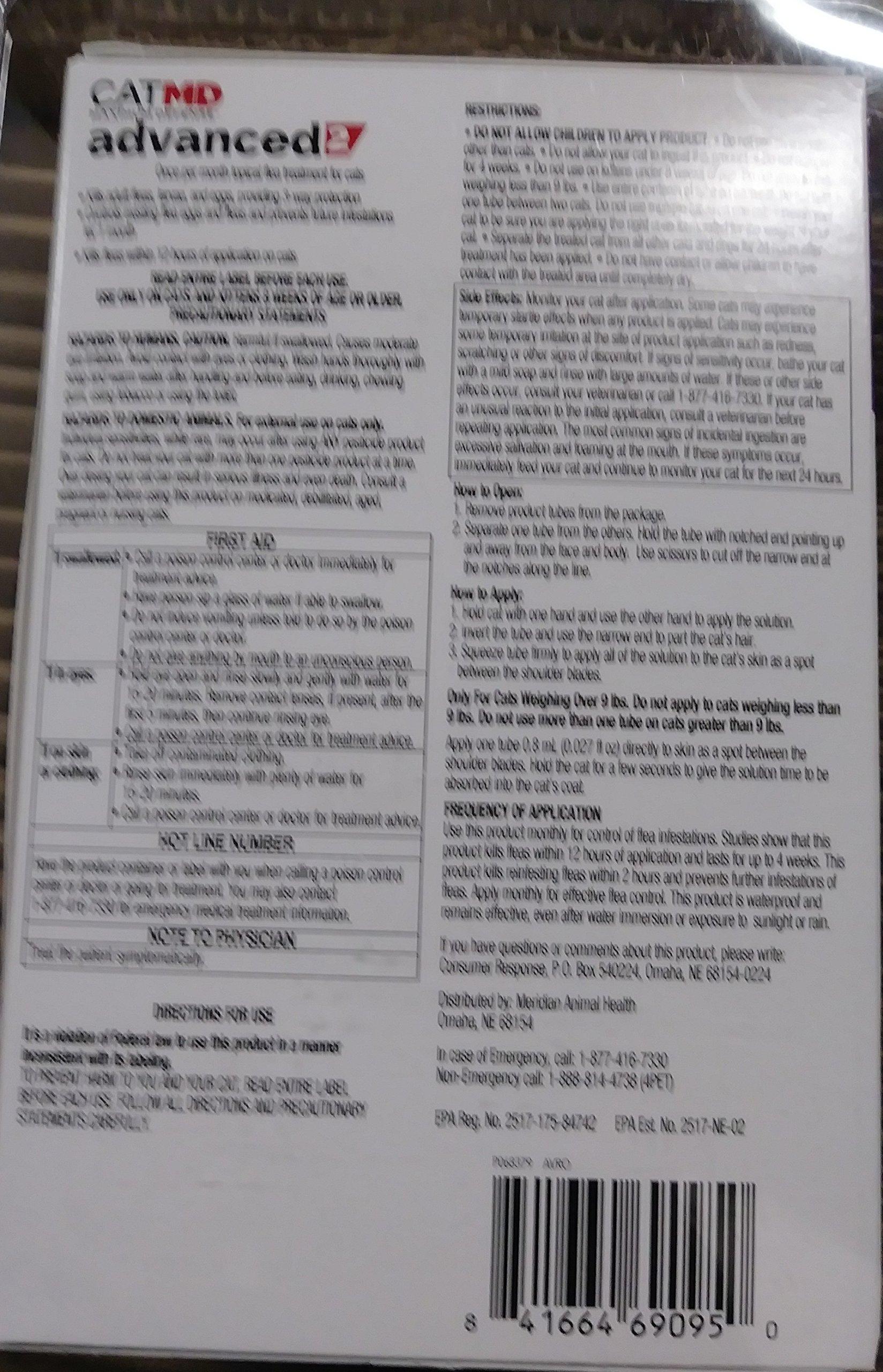 CAT MD MAXIMUM DEFENSE ADVANCED 2 FLEA TREATMENT FOR CATS 5-9 LBS 6 PAK