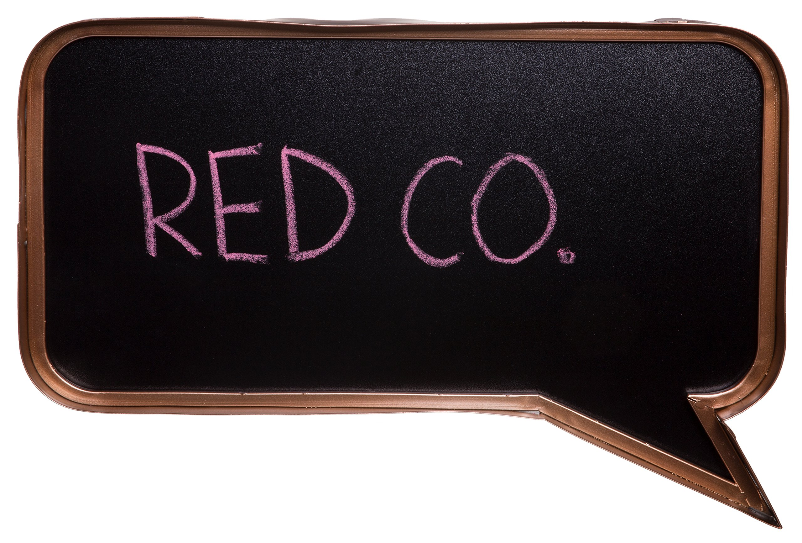 Red Co. Stylish Decorative Chalkboard Speech Bubble, DIY Signs Wall Décor, Rose Gold, 17-inch