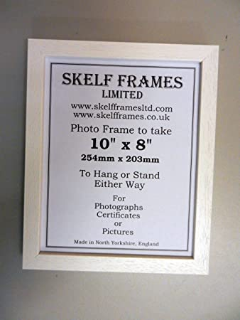 14x11 wood picture photo frame white
