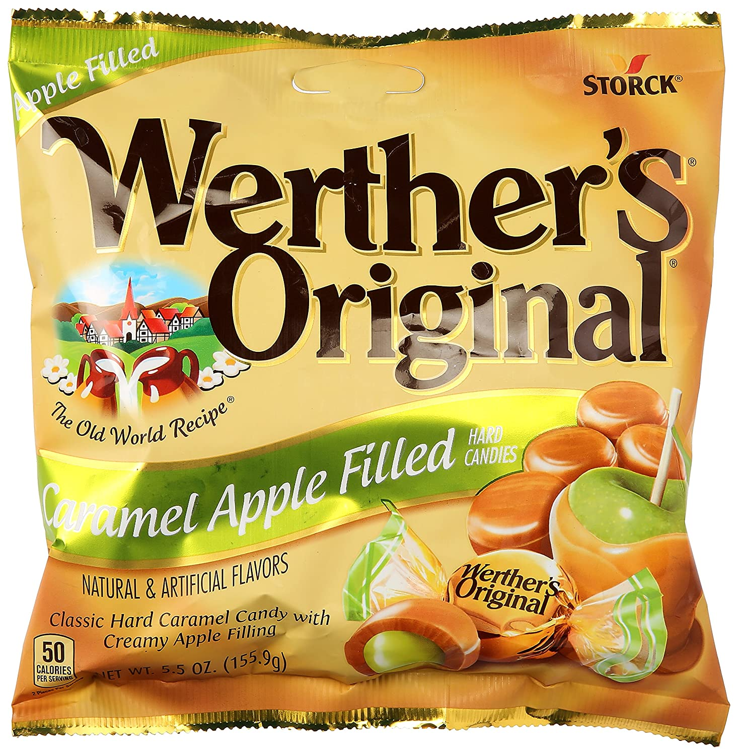 Werthers Caramel Apple Filled Hard Candies, 5.5 oz