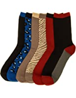 Noble Mount Womens Everyday Crew Socks - 6 Pairs
