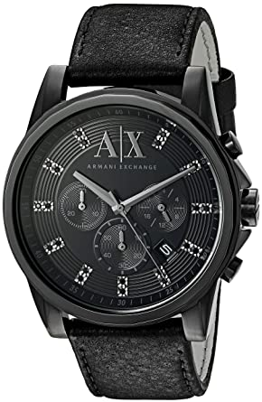 c4b4d7be Armani Exchange Men's AX2507 Black Leather Watch