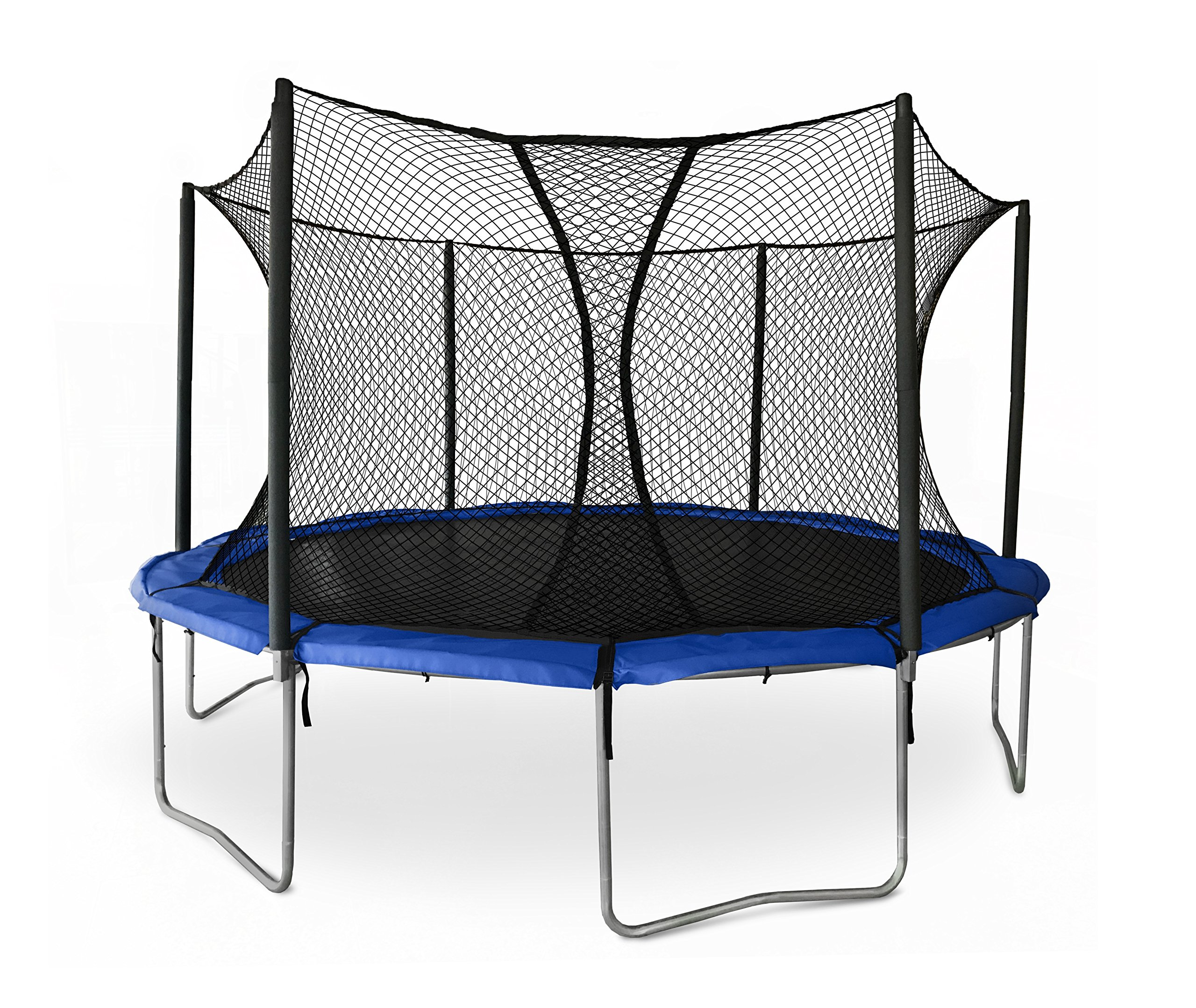 JumpSport SkyBounce ES 14' Trampoline with Enclosure | Includes Overlapping Doorway Entry & UV Resistant Pad by JumpSport