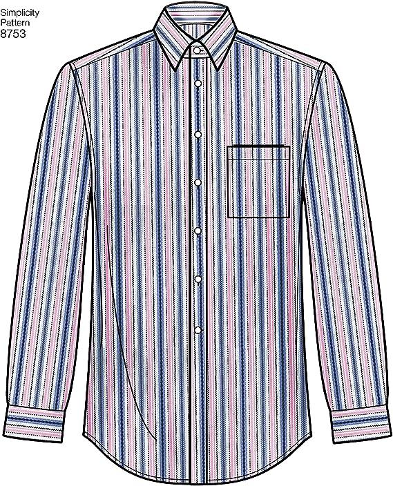 Simplicity 8753Pattern 8753 - Camisa para hombre, clásica, moderna ...