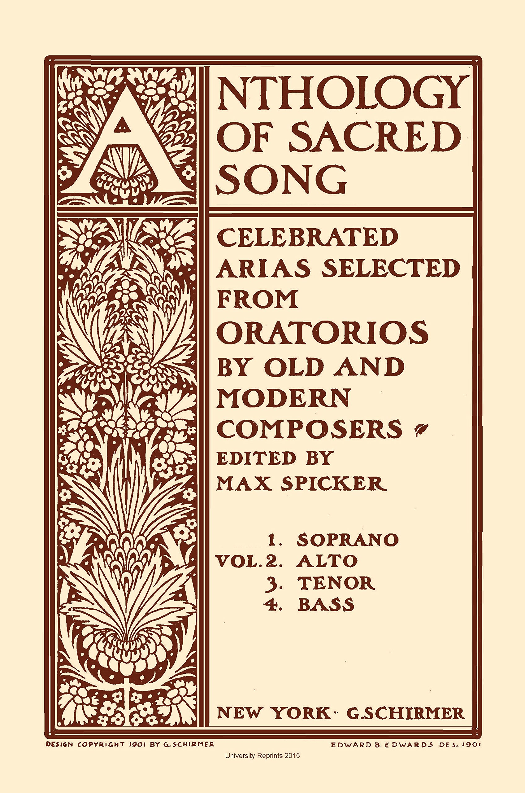 Download Anthology of Sacred Song by Max Spicker. Volume Two Mezzo Alto. [Student Loose Leaf Facsimile Edition. Re-Imaged from Original for Greater Clarity. 2015] pdf