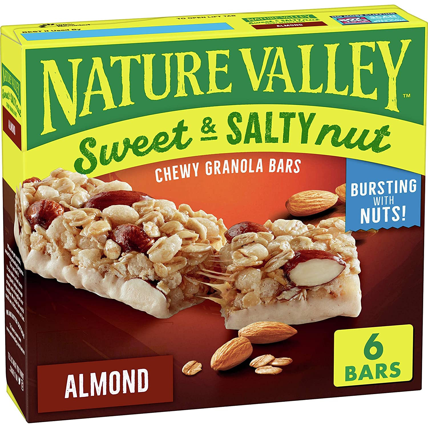 Nature Valley Granola Bars Sweet And Salty Nut Almond 6 Ct 7 4 Oz Amazon Com Grocery Gourmet Food