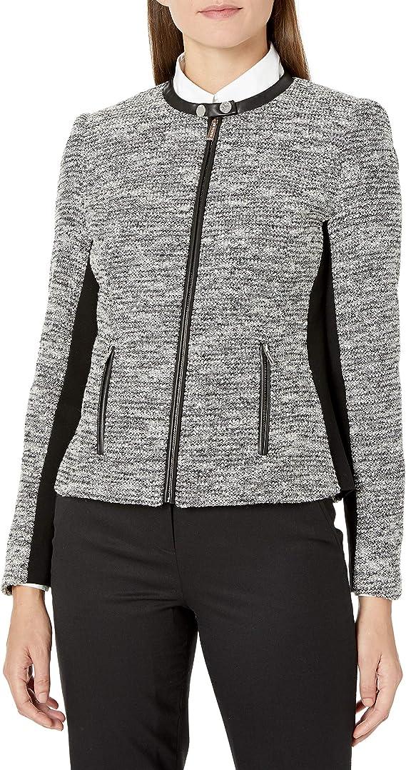 Calvin Klein 卡尔文克莱因 CK 女式花呢夹克 2码2.6折$37.11 海淘转运到手约¥319