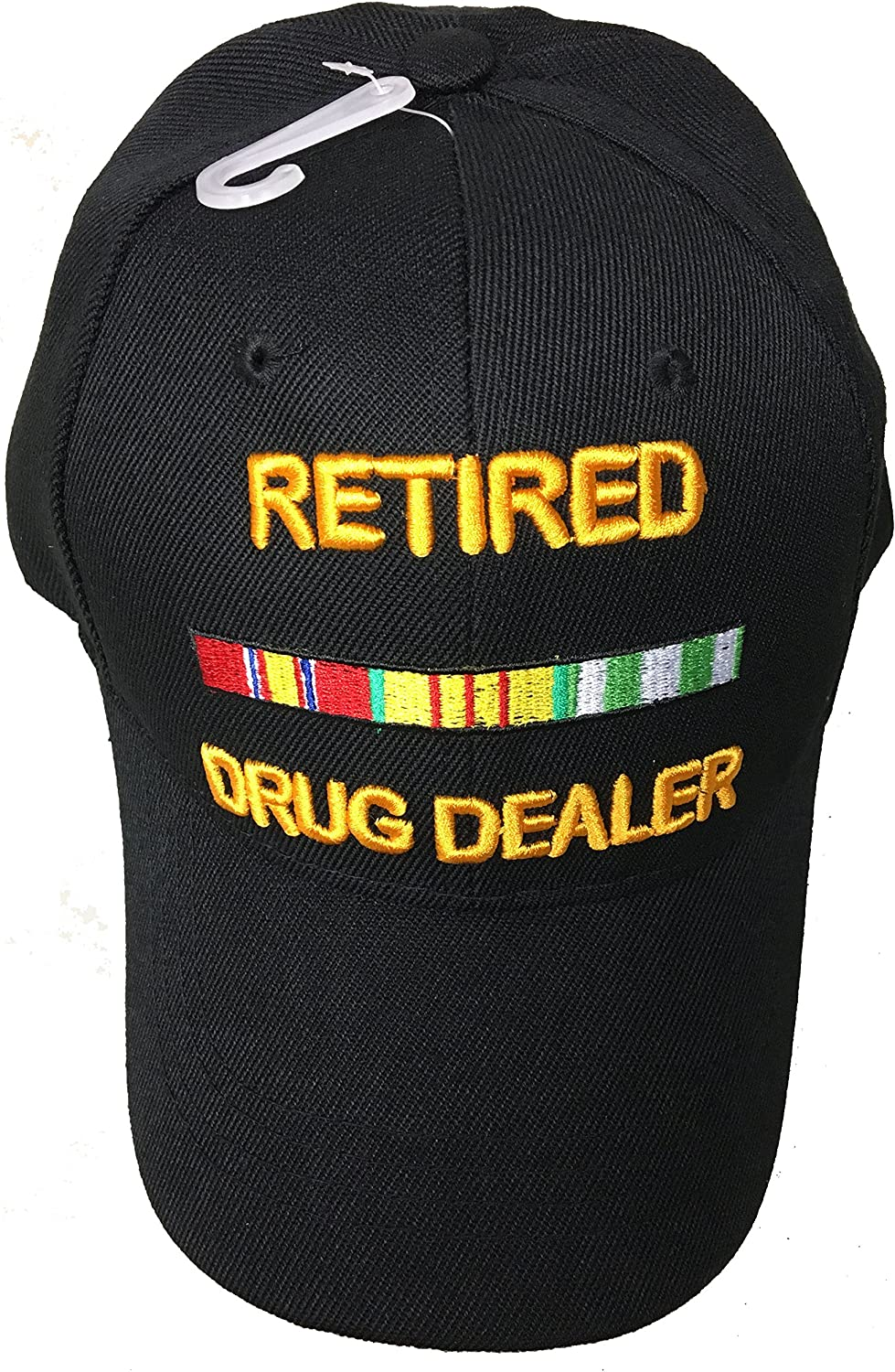 Retired Drug Dealer Baseball Style Embroidered Hat Funny Novelty Ball Fun Military Cap Black
