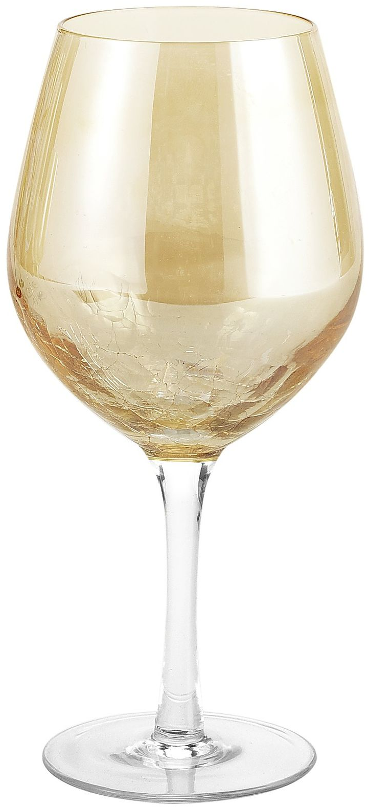 Crackle Red Wine Glass - Golden Luster | Pier 1 Imports