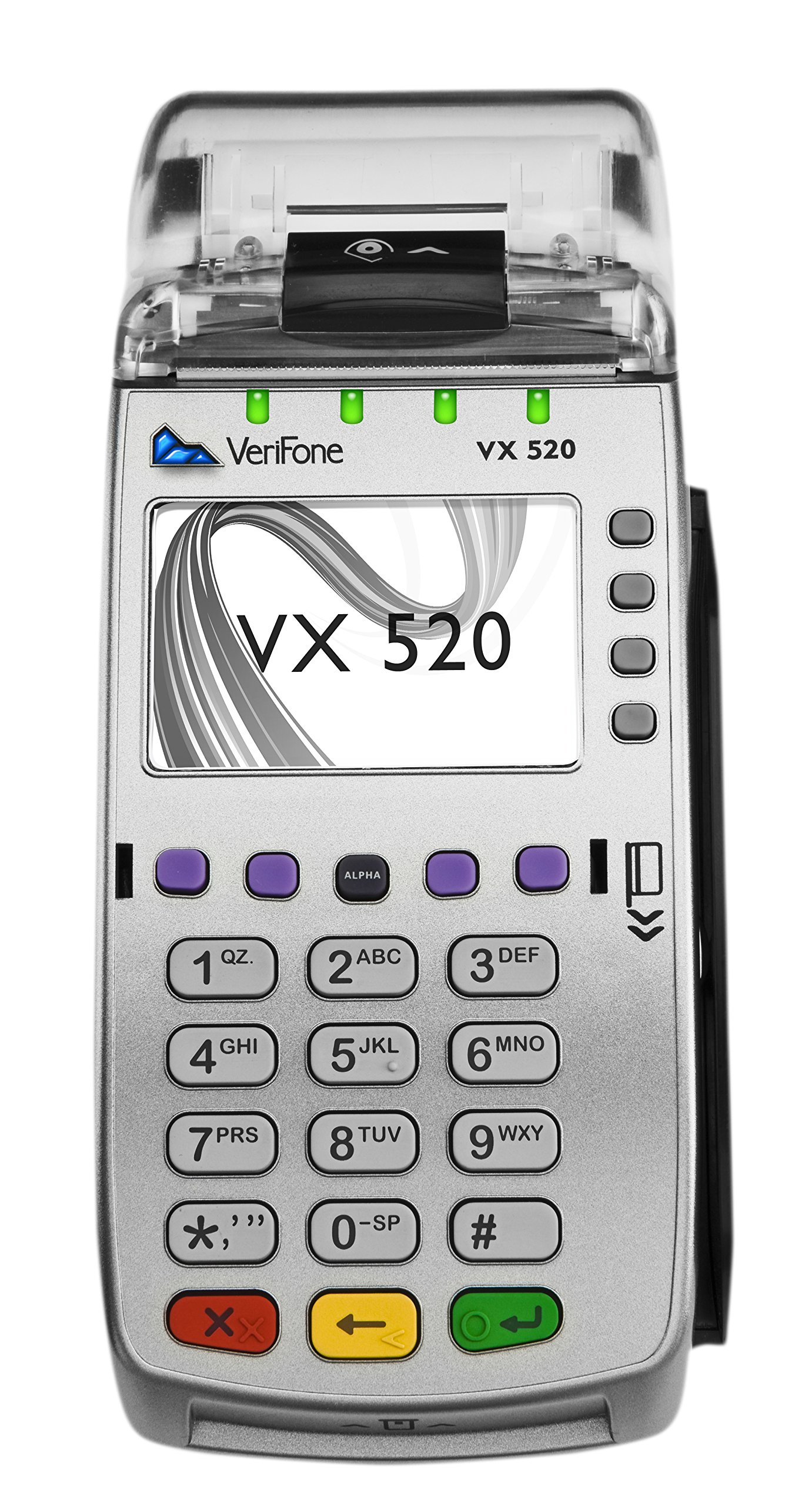 Verifone Vx520 EMV CTLS Terminal, Swivel Stand, Full Device Spill Cover and 2-1/4'' x 50' (24 Rolls) Thermal Paper by Verifone and Discount Credit Card Supply (Image #2)