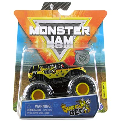 Monster Jam 2020 Spin Master 1:64 Diecast Monster Truck with Wristband: Danger Divas Queen Bee: Toys & Games