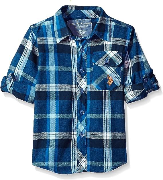 Boys Long Sleeve Plaid Woven Shirt Polo Assn U.S