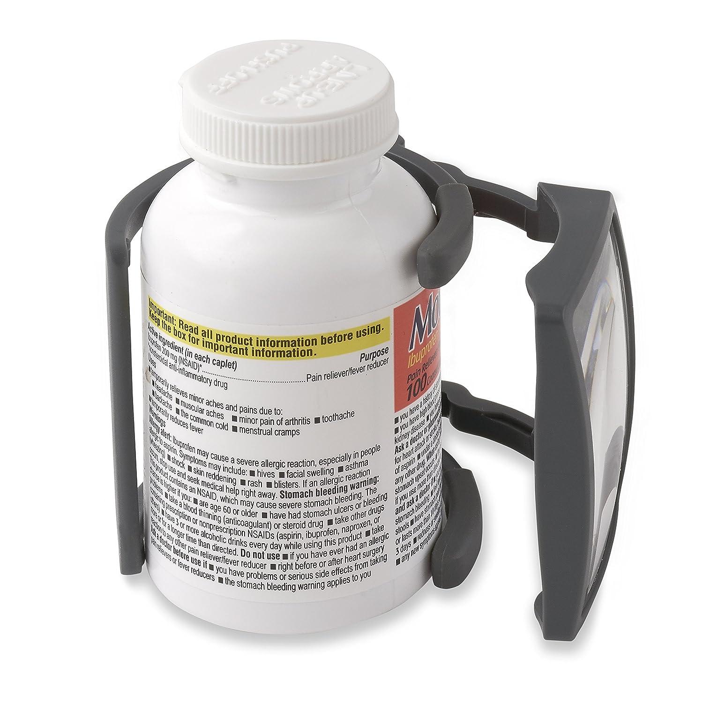 Carson MagRX 2.5x Power Clip-on Prescription Bottle Magnifier RX-55