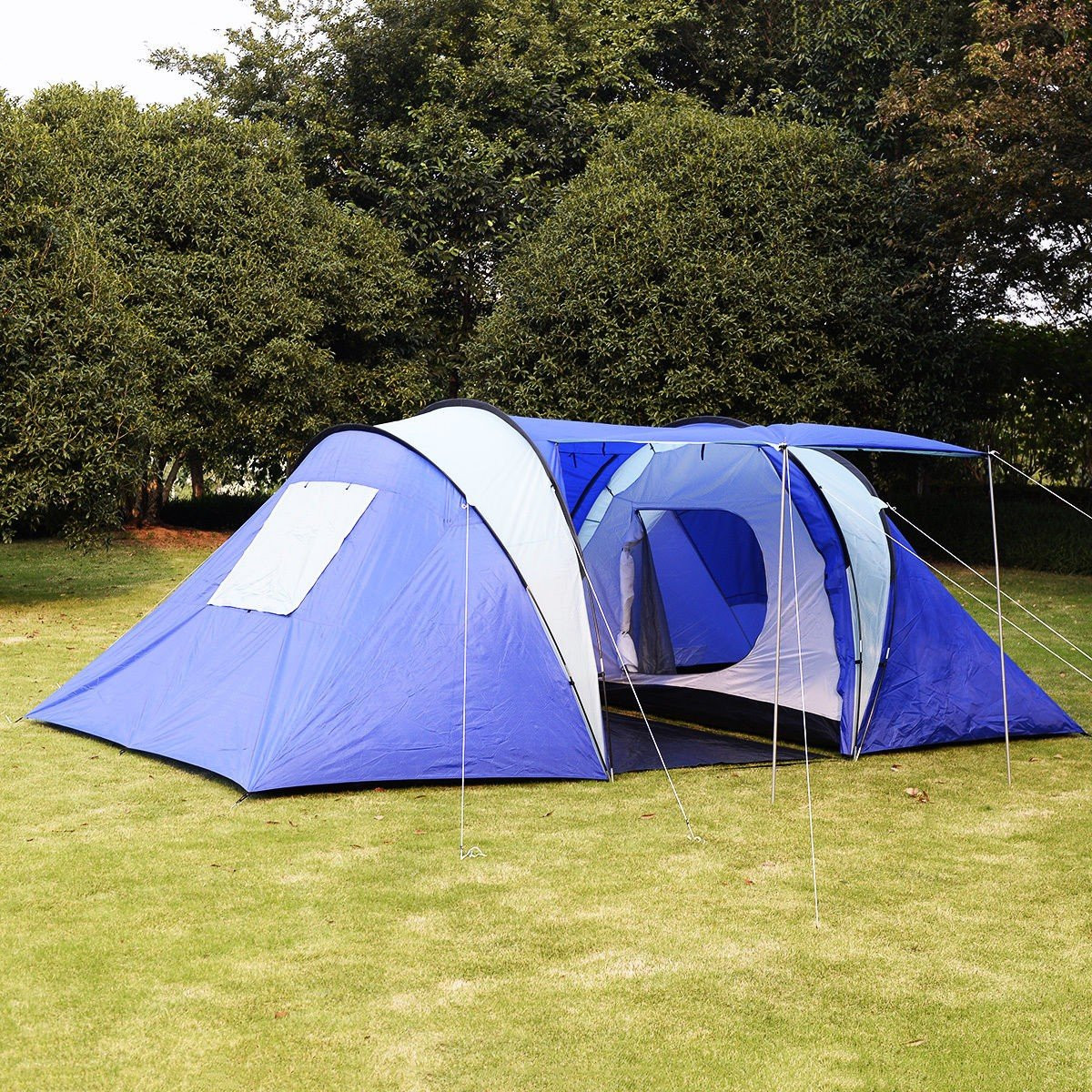6-8 Person/man Waterproof Camp 2+1 Room Hiking Camping Tunnel Family Tent by Giantex   B00PLDWDU6