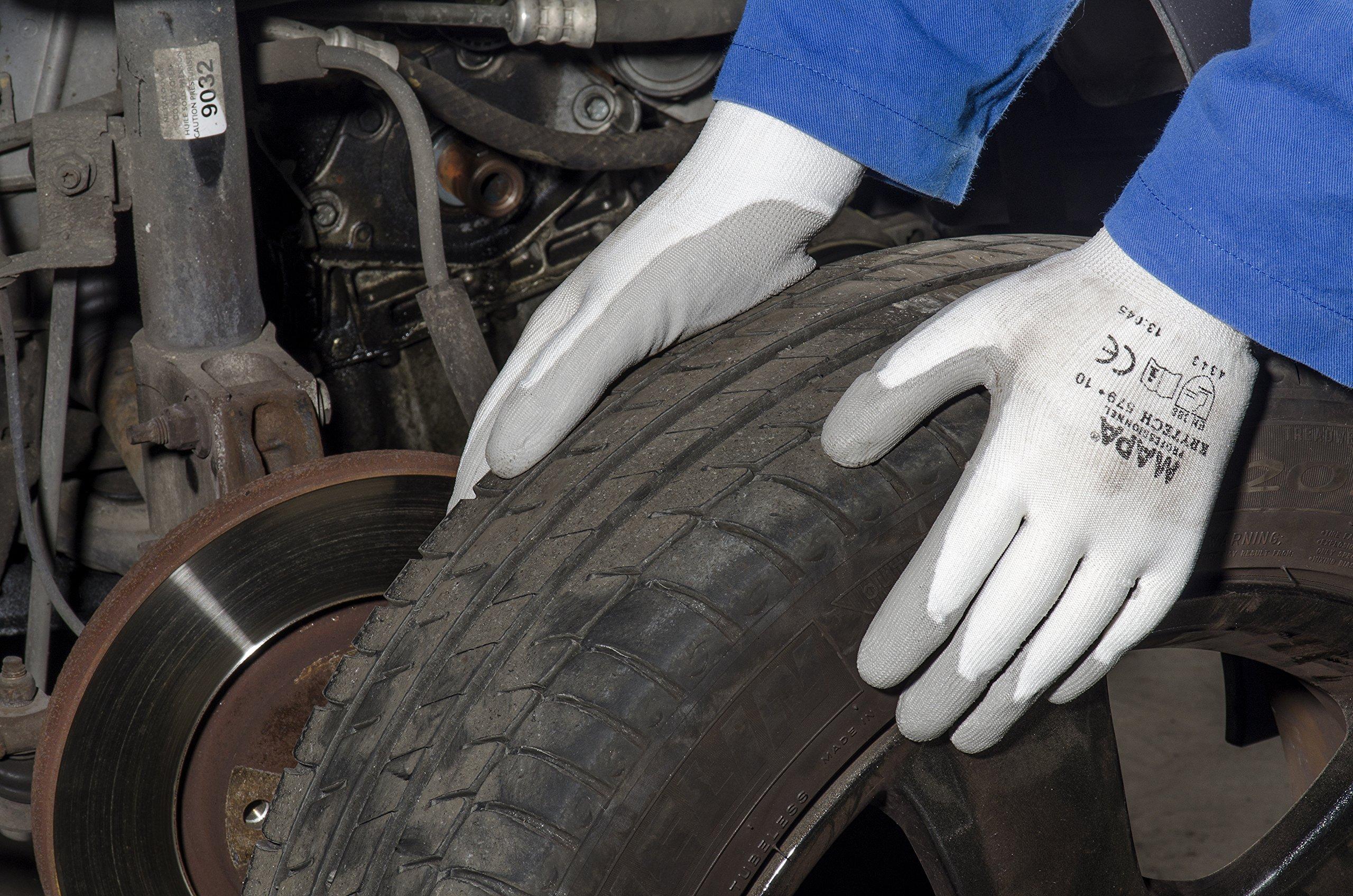 MAPA Krytech 579 Polyurethane Mediumweight Glove, Cut Resistant, 9-1/2''; Length, Size 9, White (12 Pairs)