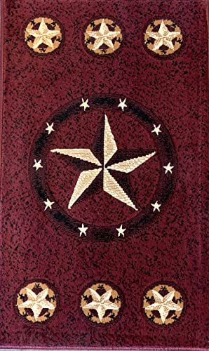 Skinz Texas Lone Star Door Mat Area Rug Burgundy Black Beige Design 78 2 Feet X 3 Feet 4 Inch