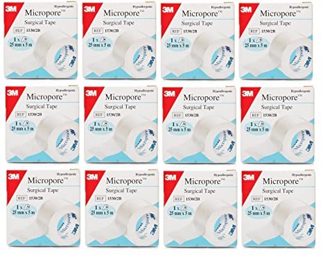 3 M Micropore - Esparadrapo quirúrgico 25 mm x 5 m: Amazon.es: Salud y cuidado personal