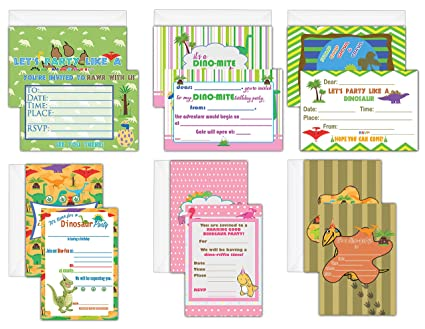 Amazon creanoso children birthday invitation cards 12 pack creanoso children birthday invitation cards 12 pack dinosaur theme birthday cards filmwisefo
