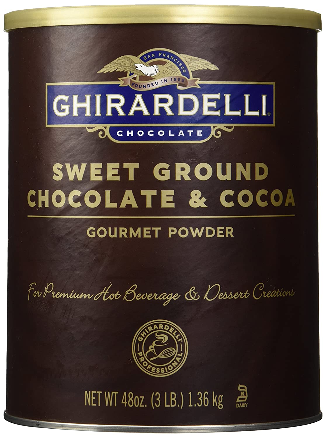 Amazon.com : Ghirardelli Chocolate Frappe, Double Chocolate, 50 ...