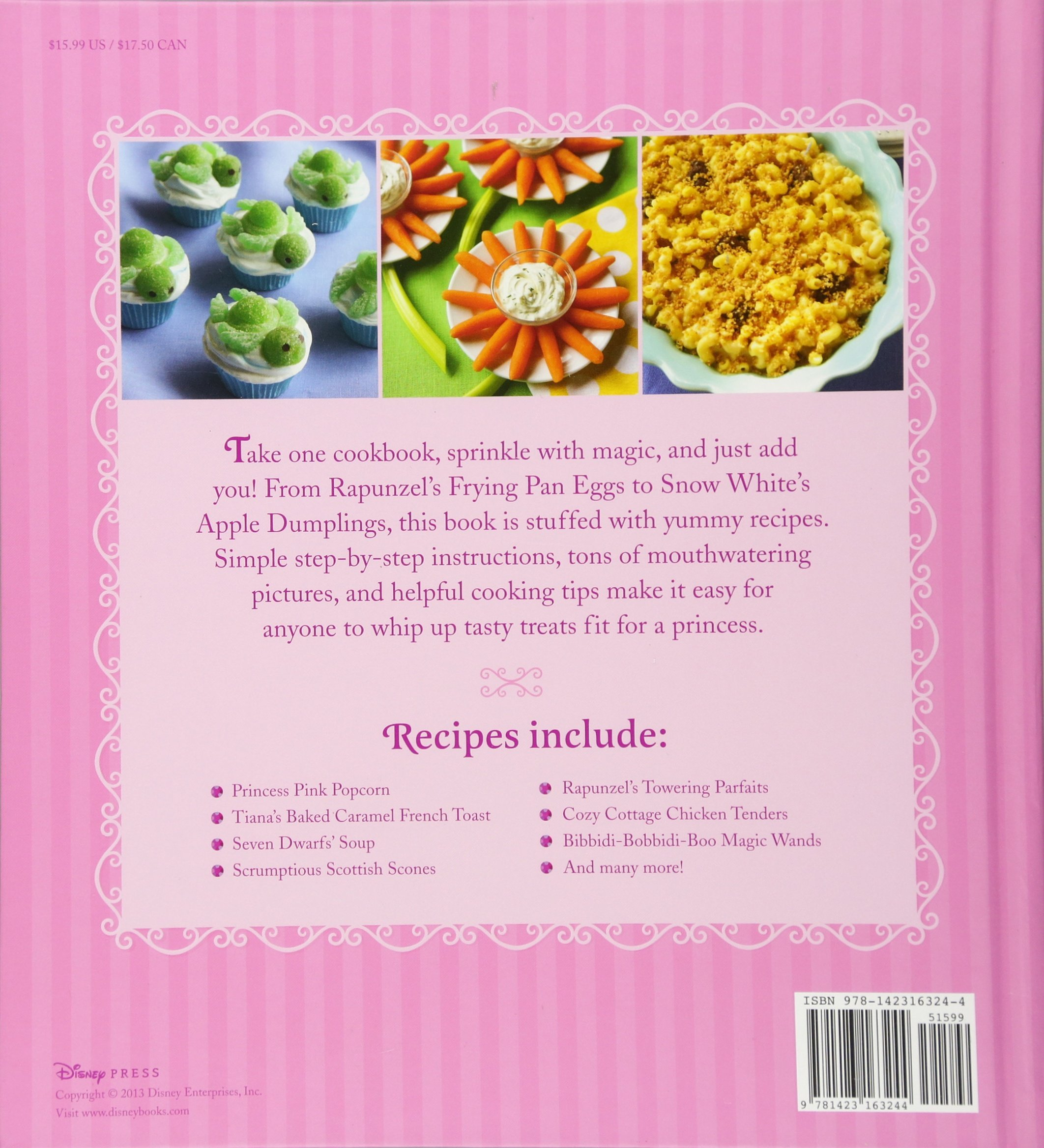 amazon the disney princess cookbook disney book group disney