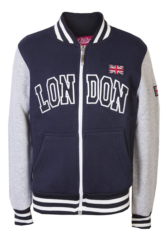 Childrens Jackets Sweatshirts Girls Baseball Boys London College Tops Kids Zip Sweater