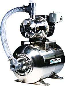 BURCAM 506547SS 3/4 HP Stainless Steel Shallow Well Jet Pump System