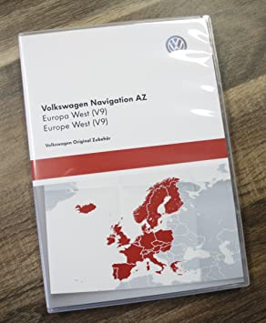 Volkswagen 3AA051866AS Original VW Navigation Data V9 Europa West