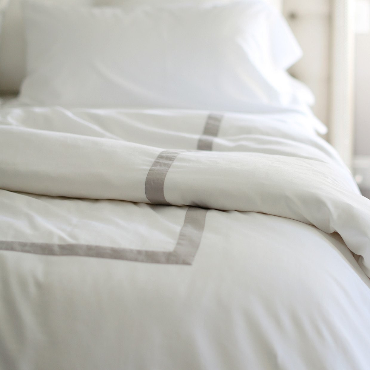 Modern Banded Duvet Covers in Dual Colors by Boll & Branch ®