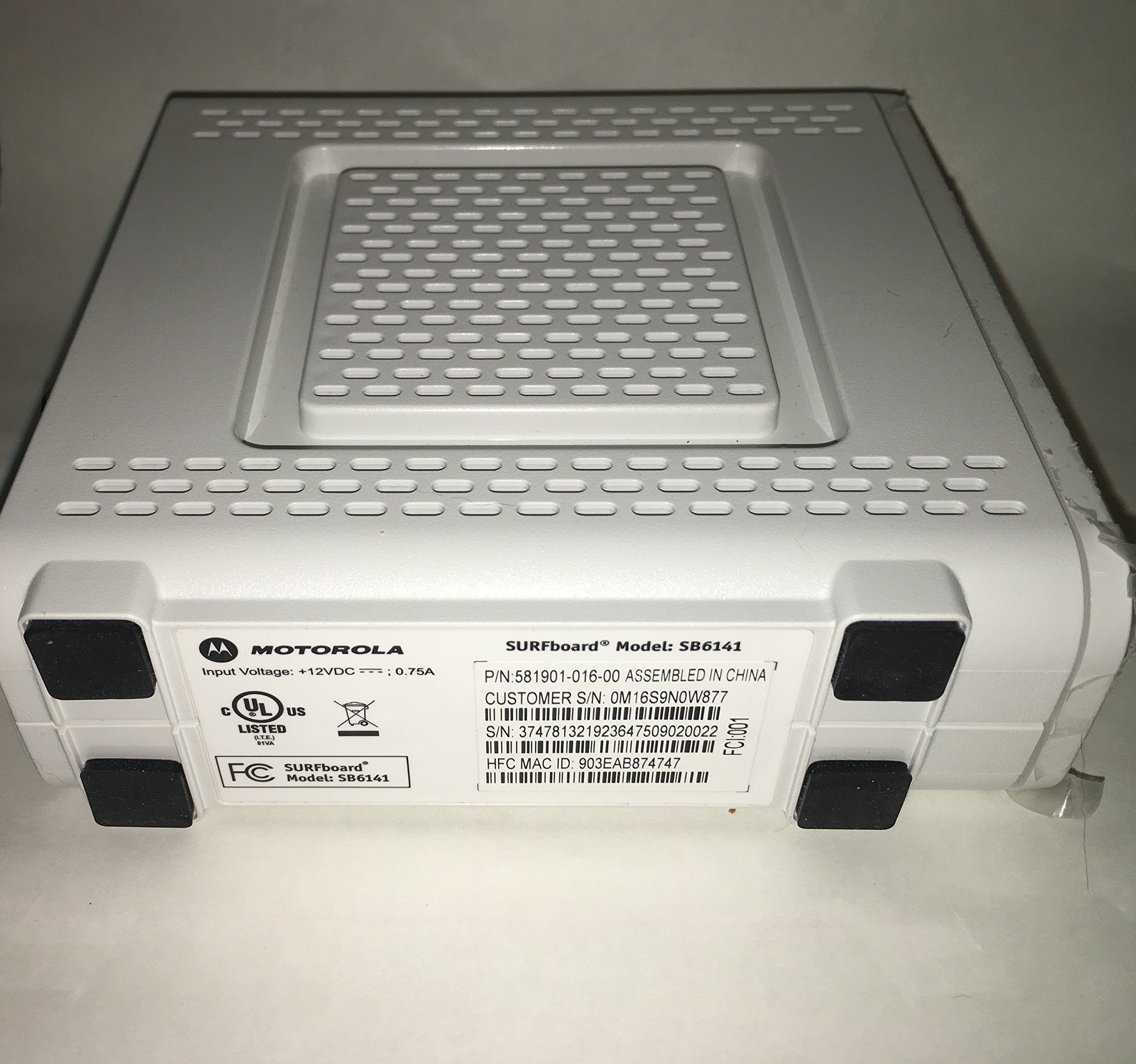 Motorola SB6141 (Comcast, TWC, Cox Version) - DOCSIS 3.0 White Cable Modem [Bulk Packaging] by ARRIS