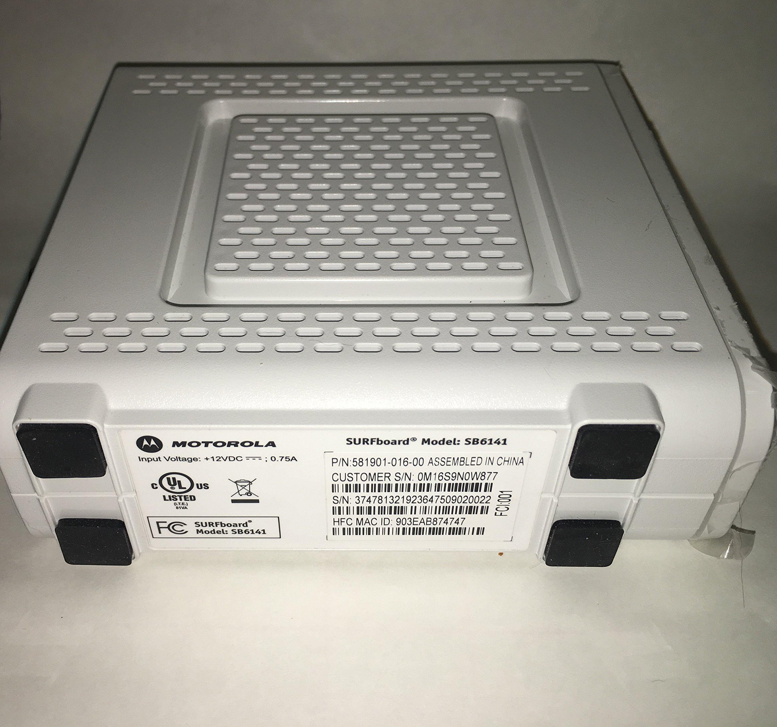 Motorola SB6141 (Comcast, TWC, Cox Version) - DOCSIS 3.0 White Cable Modem [Bulk Packaging]