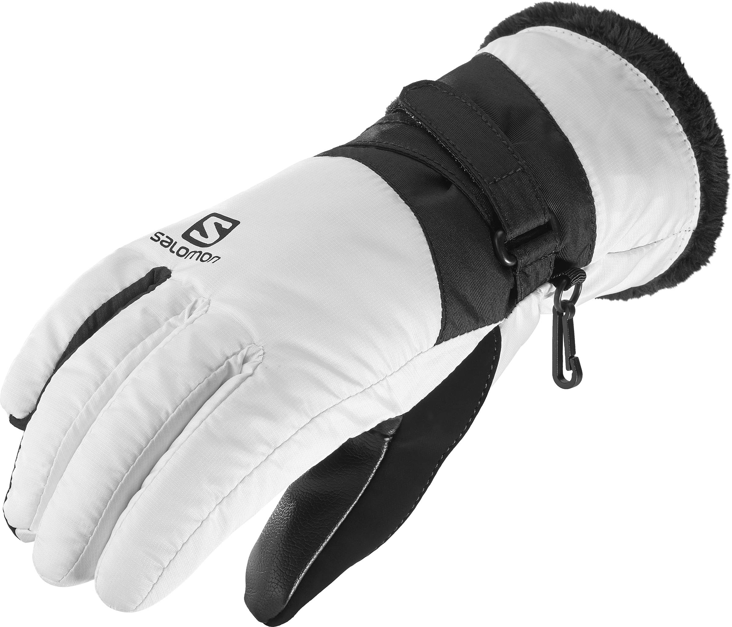 Salomon Women's Force Dry Glove, White/Black, Large