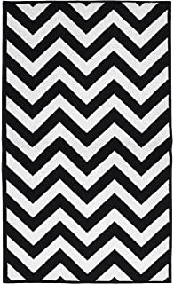 Garland Rug Chevron Area Rug, 5 By 7 Feet, Large, Black/