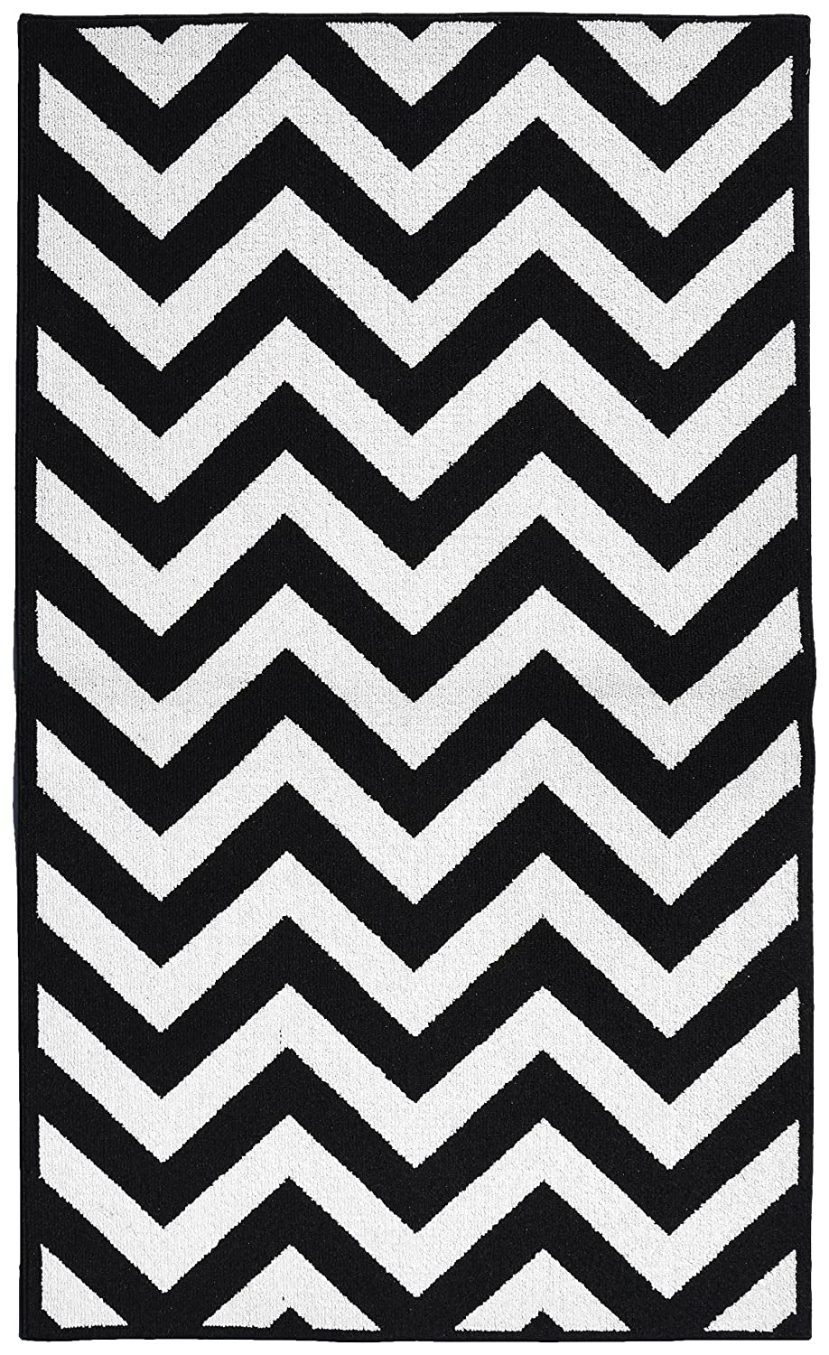 amazoncom garland rug chevron area rug  by feet large . amazoncom garland rug chevron area rug  by feet large blackwhitekitchen  dining