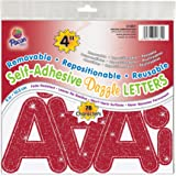 "Pacon 4"" Self-Adhesive Uppercase Letters, 78-Count, Red Dazzle (51681)"