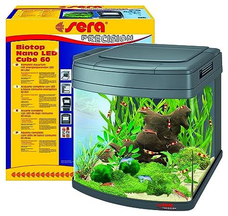 Sera 31106 Mondi Biotop Nano LED Cube 60 un 60 L de Agua Dulce Acuario Completo
