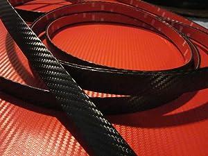 TRUE LINE Automotive Universal 3/4'' Stick On Carbon Fiber Molding Trim (12 Feet)