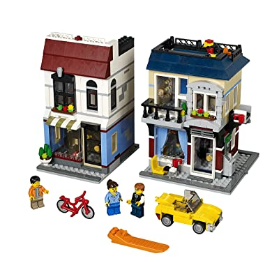 LEGO Creator Bike Shop and Cafe 31026 Building Toy: Toys & Games