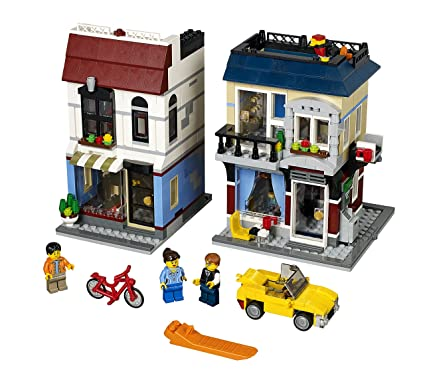 Amazon.com: LEGO Creator Bike Shop and Cafe 31026 Building Toy: Toys ...