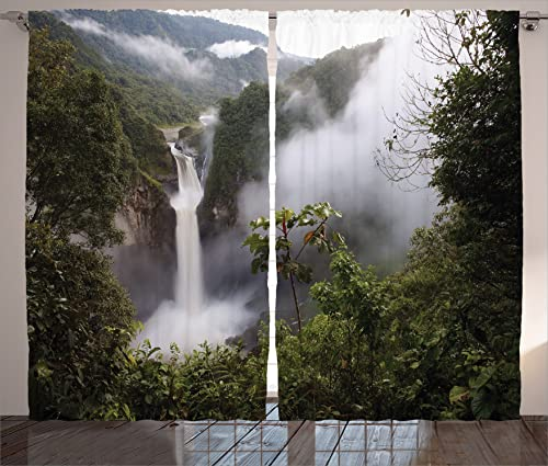 Ambesonne Rainforest Curtains