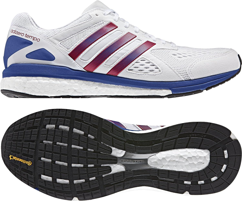 batería igual Derrotado  adidas Adizero Tempo AKTIV Running Shoes - White-UK 4: Amazon.co.uk: Shoes  & Bags