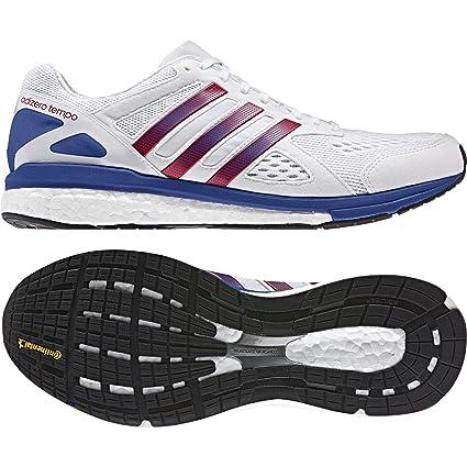 c23fa501b04564 Amazon.com  adidas Adizero Tempo Aktiv Running Shoes - White-UK 5 ...
