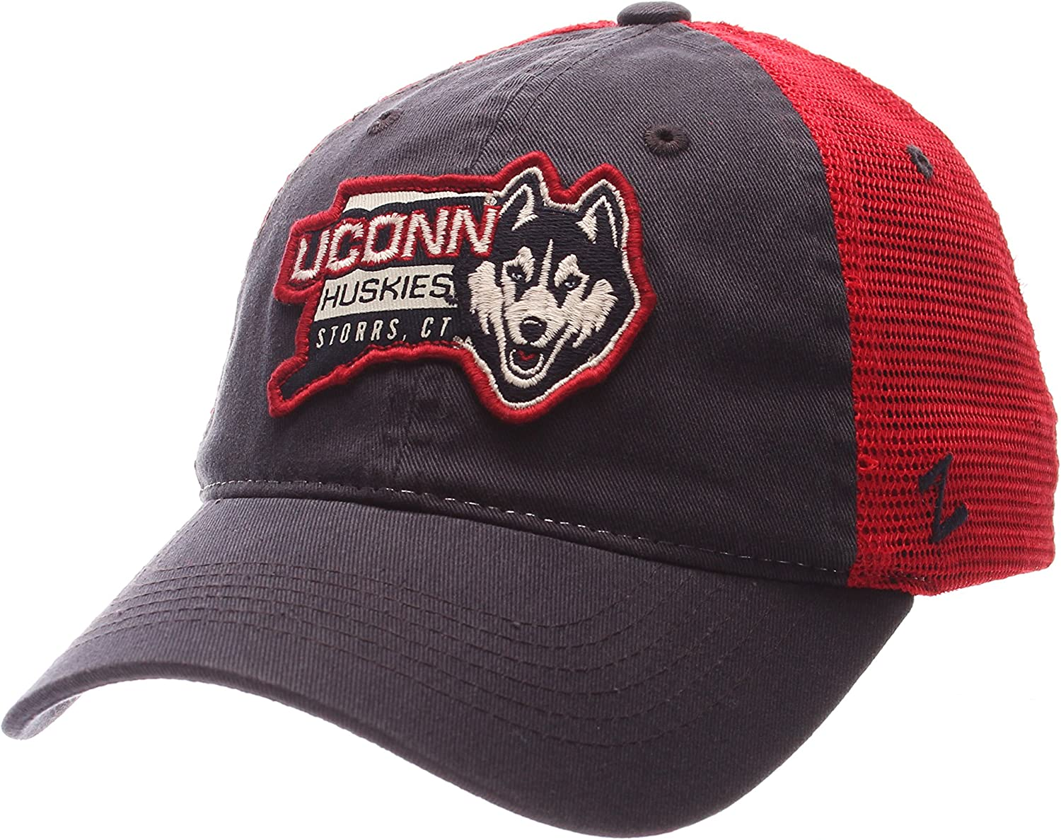 NCAA Zephyr Connecticut Huskies Mens Freeway Relaxed Hat Adjustable Team Color